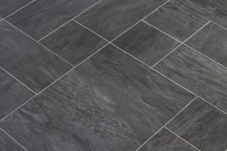 lajas: Textura pizarra pisos de vinilo en una opci�n popular para las cocinas modernas y ba�os