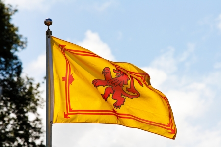 rampant: The ancient royal flag of the monarch of Scotland the Rampant Lion