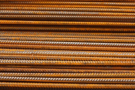 reinforcing: reinforcing steel bars for the construction industry to make reinforced concrete good background or web wallpaper Stock Photo