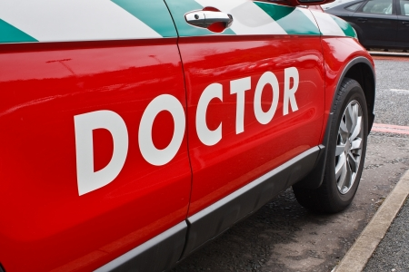 urgent care: A doctors emergency vehicle for urgent home visits