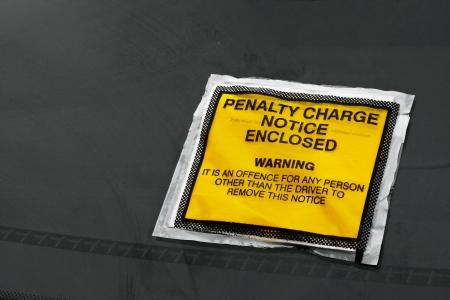 parking ticket: Parking ticket stuck on car windscreen a penalty or fine