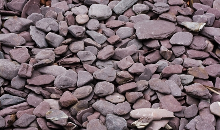 aggregates: pebblestones decorative chippings or aggregates for garden paths, patios and decorative borders Stock Photo
