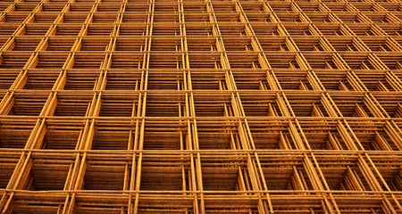 construction mesh: welded wire mesh stacked creating abstract industrial or engineering background