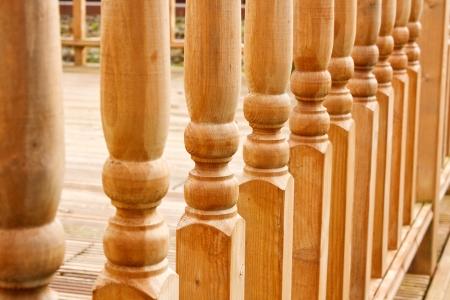 balustrades: row of balustrades on raised garden walkway or path