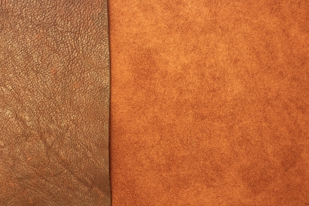 genuine leather textured background with both tanned and suede finishes made from animal skin and used in quality durable clothing photo