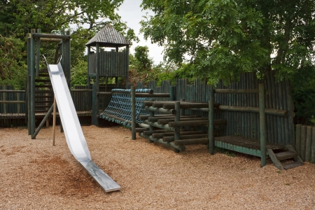 turrets: Adventure Play park for youngsters to enjoy with a slide, rope tunnel and castle turrets