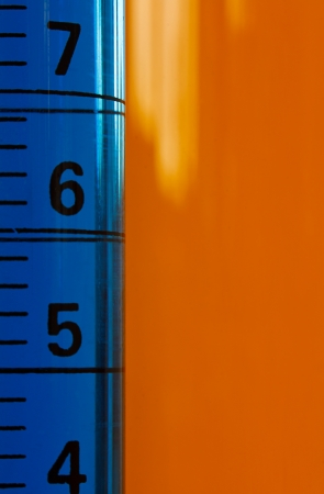 Measuring Graduated cylinder used in laboratories to measure fluids in ml Stock Photo - 21978146