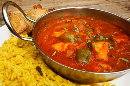 Chicken jalfrezi a popular indian curry available at eastern restaurants photo