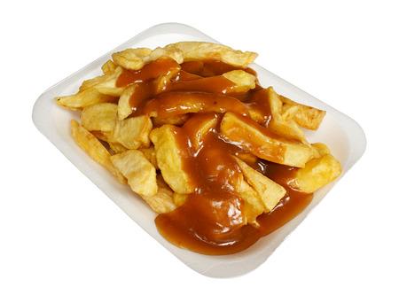 podnos: Hranolky nebo chipsy a omáčkou z oblíbených evropských odnést s sebou svačinu, sloužil v polystyrénové zásobníku, z uzavřít
