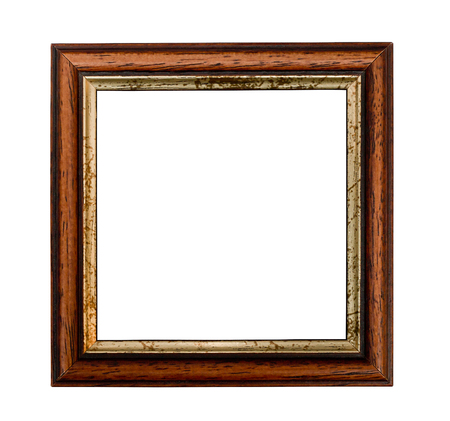 Small square picture frame with Gilded inset isolated on a white background photo