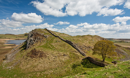 Sycamore Gap part of Hadrians Wall in Northumberland near the Scottish Borders photo