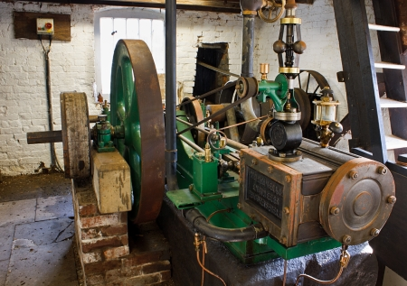 Josephine a steam engine restored by Fred Dibnah used to power the workings of local Wetheriggs pottery near Penrith  Which has now closed  Stock Photo