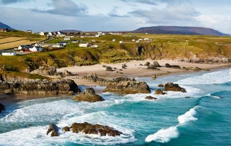 Sango Bay beach at Durness one of scotlands stunning North Atlantic beaches located in the northwest scottish Highlands 写真素材