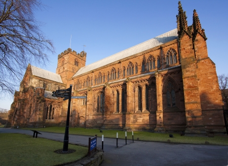 smallest: First Sunlight hits Carlisle Cathedral one of the smallest in England