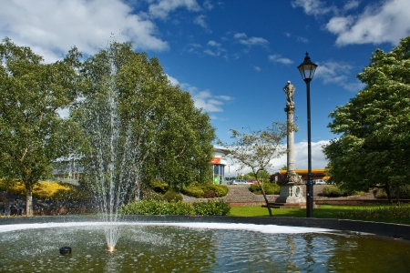The fountain in Hardwick Circus, Near Carlisle City Centre in the County of Cumbria Stock Photo - 24854114