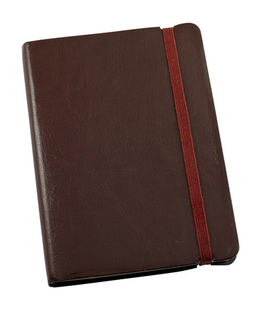 journals: Pocket sized Leather bound personal journal for keeping a hand written record of memories Stock Photo