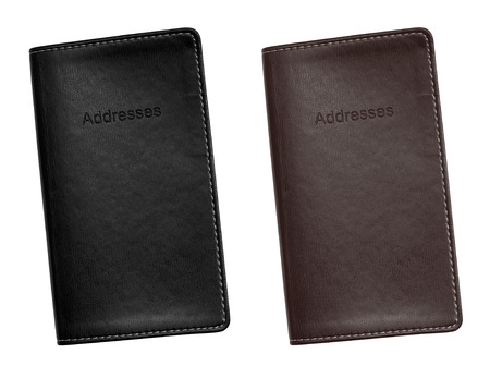organising: Pocket sized Leather bound address book for organising your personal contacts, emails and addresses