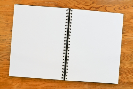 Double page spread blank ring binder with copy space  Great surround   Stock Photo