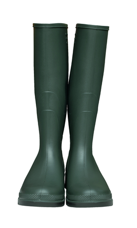 welly: Pair of Farmers Green Wellington Boots isolated against a white