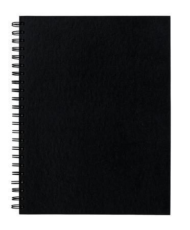 Leere Spirale gebunden Schrottbuch vordere Abdeckung mit leeren Kopie Raum für das Einsetzen Ihrer Nachricht oder Design-Elemente. Standard-Bild - 25842744