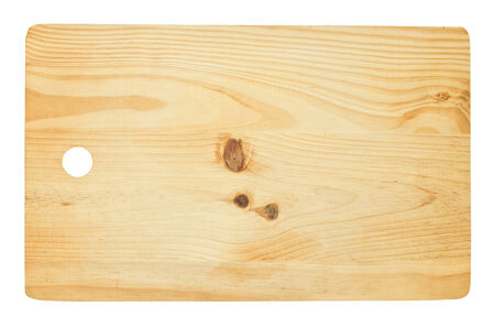recently: Woodern Cutting Board isolated against a white background, recently becoming popular again due to their Natural antiseptic and self healing properties.