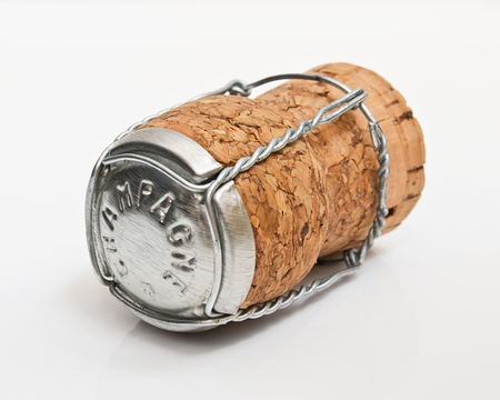 Cork from a bottle of champagne often used as part of a winning celebration especially in grand prix events photo