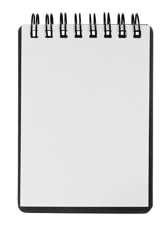メッセージやデザインの要素の挿入のコピー スペースを持つ素朴な木製の背景の空白のリング バインドされたスクラップ ブック。 写真素材