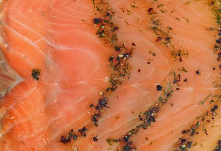 salmon ahumado: Fondo de color salmón ahumado con hierbas