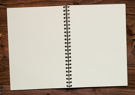 note book: Spiral bound scrapbook Double page spread