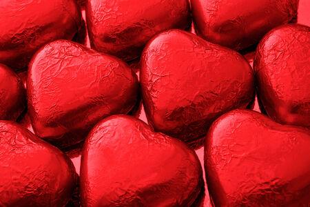 corazones de amor: Amo el chocolate rojo corazones un gran regalo de un Chocalatier de lujo para el d�a de san valent�n del santo Foto de archivo