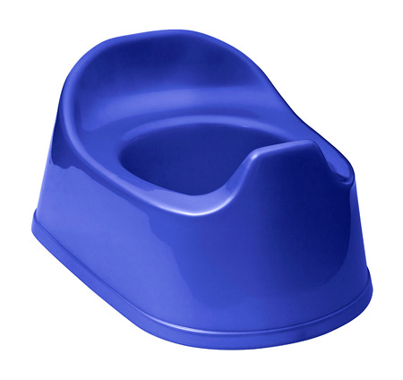Toilet training potty used by small children photo