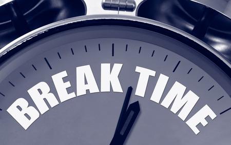 hojas parra: Tiempo de la rotura en un gran concepto esfera del reloj para escapadas cortas durante una apretada agenda o presentación.