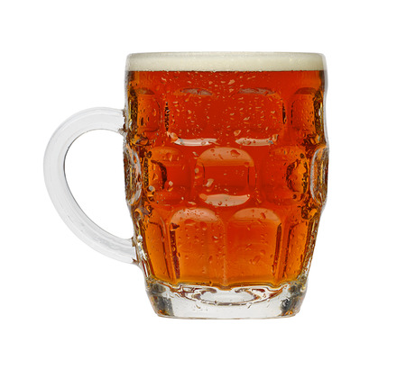 Traditional Pint of Beer in a typical British dimple glass