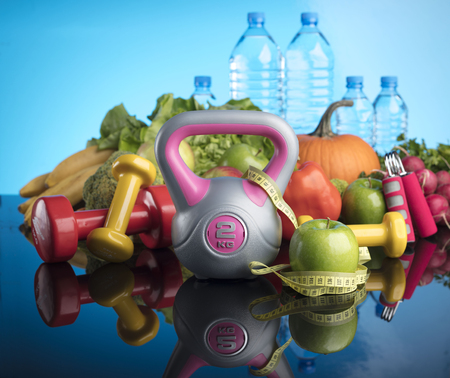 Diet and Fitness Stock Photo
