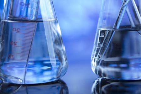 Laboratory glass ware Stock Photo