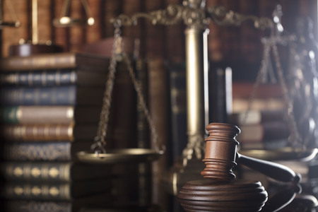 barrister: Mallet of judge. Law theme.