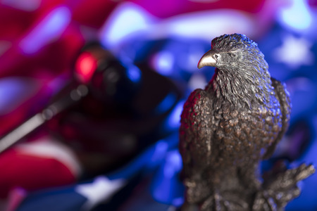 American eagle. Independence Day theme. 4th of July.