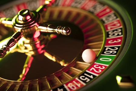 Casino thema. Gokspellen. Close-up van het roulette wiel.