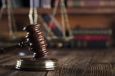 judicial proceeding: Legal system. Law and justice concept. Stock Photo