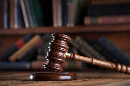 judge gavel: Legal system. Law and justice concept. Stock Photo