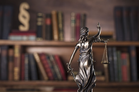autoridad: Law and justice concept – Themis and scale of justice