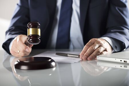 Attorney concept. Legal office. Lawyers office. Business concept. Man signing agreement.
