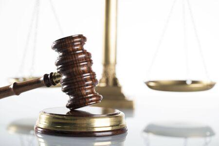 Law symbols isolated. White background.