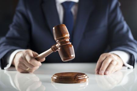 사법 판매 중 법원 집행 위원. 스톡 콘텐츠