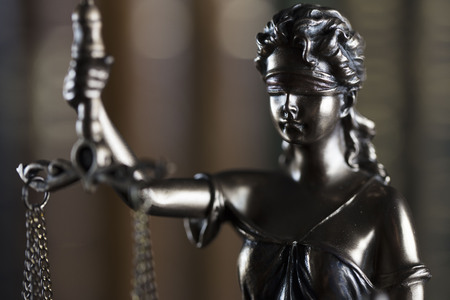 Law theme. Law symbol – statue of justice.
