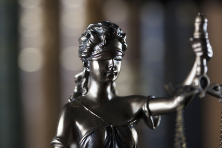 Law theme. Law symbol � statue of justice.