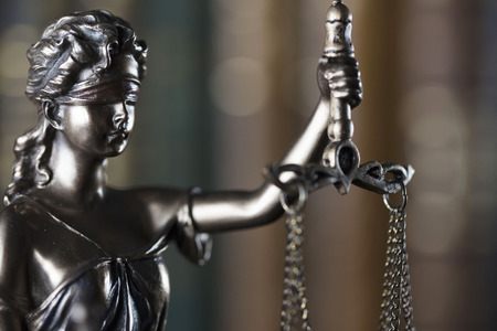 libra: Law theme. Law symbol – statue of justice.