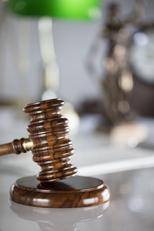 Law and justice concept - gavel  of the judge.