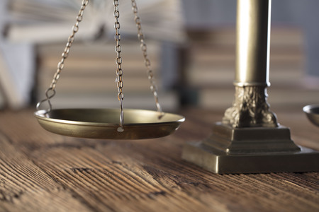Law concept. Law and justice symbols composition. Banque d'images
