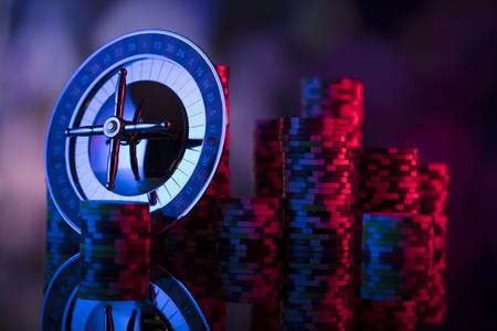 Casino theme. Bokeh background. Stock Photo